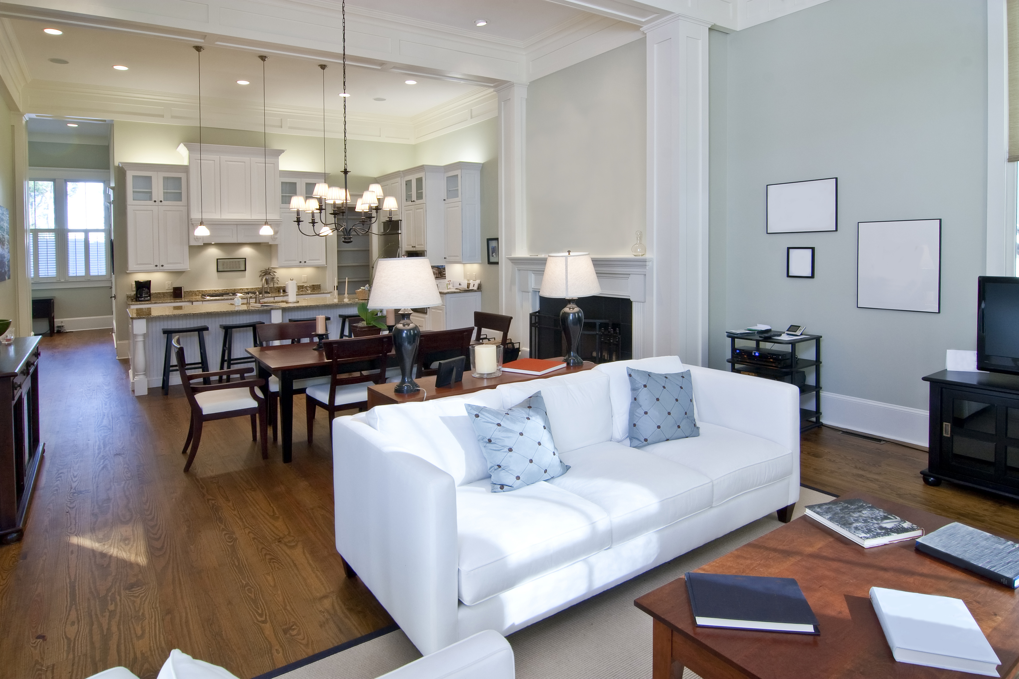 Five must do home staging techniques semonin real for Kitchen family room furniture