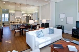 Staging Tip: In an open concept floor plan, use furniture to create separation to show purpose and space