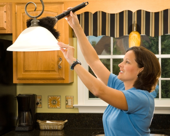 Lighten up your space by cleaning light fixtures