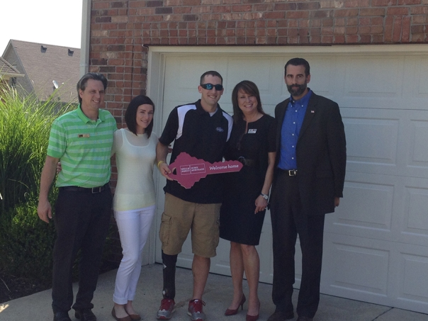 A former Army sergeant, receives home courtesy of Wells Fargo